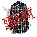 Tweed Oversize Shirt BLACK / WHITE
