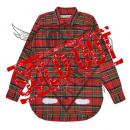DIAG SPRAY CHECK SHIRT RED ALL OVER
